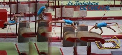 Tsukahara par la gymnaste Oréane Léchenault