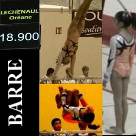 Oréane Léchenault aux barres asymétriques lors des Coupes de France de gymnastique 2011