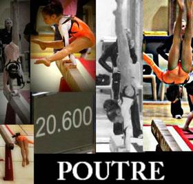 Oréane Léchenault à la poutre lors des Coupes France de gymnastique 2011