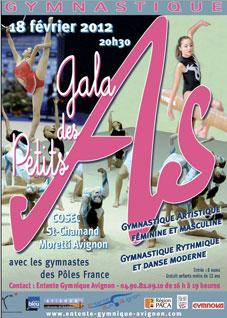 Avignon 2012 : Gala des Petits As avec la participation des Pôles de France de gymnastique