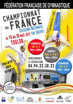 L'affiche des championnats de France divisions nationales par équipes 2012