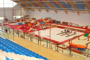 Le complexe gymnique d'Arques, c'est 2000 m² pour la gymnastique artistique !
