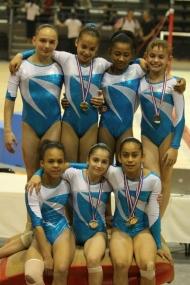 Les gymnastes du Pôle de Toulon