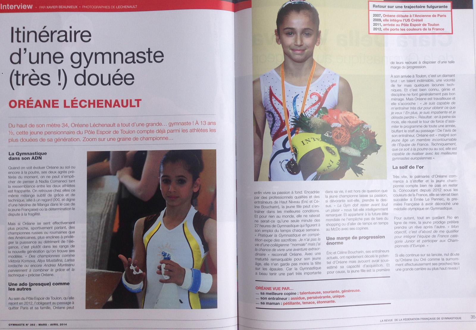 Revue de presse de la gymnaste or ane lechenault for Revue de www houseplans com