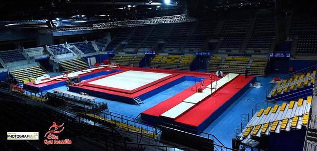 La salle du palais des sports de Marseille revue et corrigée pour le l'Elite Gym Massilia 2014