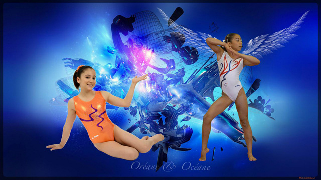 Océane Pausé et Oréane du pôle de Toulon de gymnastique. ©Mika