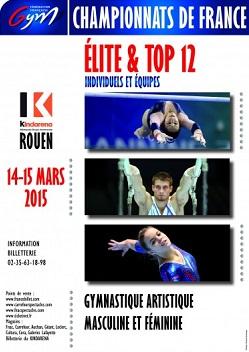 Les meilleures équipes sont à Rouen du 14 au 15 mars 2015.