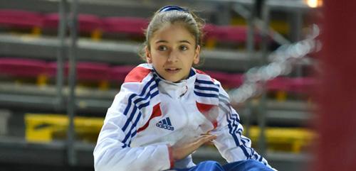 Oréane, membre de l'équipe de France junior